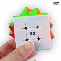 QiYi Stickerless Speed Magic Cube Warrior S 3x3 3x3x3 Puzzle Cubes Kids Toys