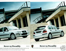 Rover 25 Piccadilly SE Italian All White 2 x Press Photograph Mint Condition
