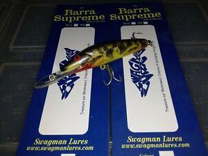 "1x SWAGMAN LURES ""barra supreme"" mid runner barra, mackrel, jacks, trevally, cod"