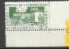 300--SELLO MNH FISCAL LOCAL ANTIGUO  CORPORATIVO MANRESA CAMARA PROPIEDAD URBANA