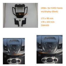 Car Radio fascia Facia Panel Adapte for FORD Fiesta 2008+ wo/display Black
