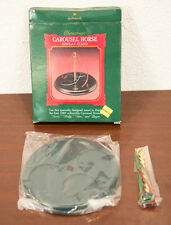 1989 CAROUSEL HORSE DISPLAY STAND HALLMARK CHRISTMAS ORNAMENT MIB