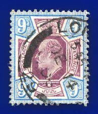 More details for 1905 sg250a 9d dull purple & ultramarine csp m40(1) gu de 14 06 cv-fu £75 bapp