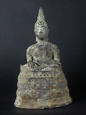 Antique 16/17th Century Excavated Bronze Buddha from  North of Thailand