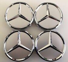 4x 75mm Center Hubcap Hub Cap Caps MB Emblem Wheel Cover for Mercedes Benz AMG