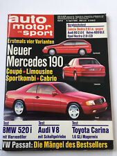Audi V8, Trabant 601 Werk, Mercedes 190 E,Toyota Carina,Opel Kadett, AMS 1990