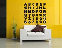 Wall Decal Sticker Bedroom alphabet letters numbers count school nursery bo2854