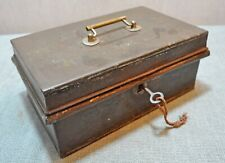 Original Old Antique Hand Crafted Iron Merchants Cash Box Galla