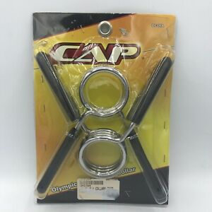 """CAP Olympic Size Spring Collar 2"""" Bar Weight Holder Clamp Powerlifting Home Gym"""