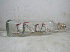 Vintage 2 Ships In A Bottle Sailing Ship Nautical Decor