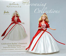 2010 Hallmark Celebration Barbie Keepsake Ornament 11th in Series #11 Holiday