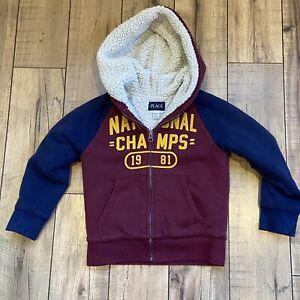 CHILDREN'S PLACE Full Zip Sweatshirt Hoodie Sherpa lined XS 4