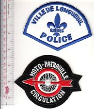 Police Quebec Ville de Longueuil Police Department & Motorcycle Traffic Officer