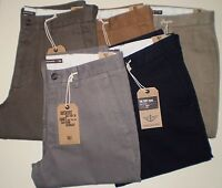 GENUINE DOCKERS CHINOS D1 SLIM FIT SOFT KHAKI PANTS/TROUSERS/JEANS