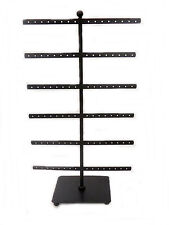 "Black Metal Earring Tree Holder / Display / Organizer - 15"" Tall -Holds 48 pairs"