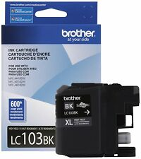 Brother LC103BKS Black Ink Cartridge, High Yield Ex 2019 02