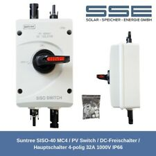 SISO-40 MC4 PV Switch / DC-Hauptschalter / Trennschalter 4-polig 32A 1000V IP66