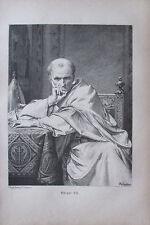 D. Knille: Gregor VII. - Kunstblatt aus ca 1880 Reproduktion print