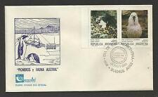 ARGENTINA 1986 ANTARCTIC PIONEERS & FAUNA PENGUIN FDC (No 4)