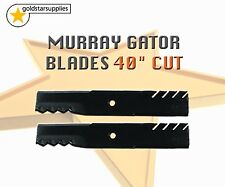 "2 x Heavy Duty Gator Blades To suit Murray 40"" Cut Ride On Mowers"