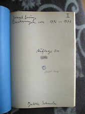 Beuys, Joseph Zeichnungen Band II von 1946-71 Vgl. Schellmann 55 f. handsigniert