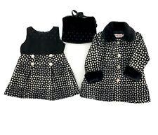 Girls Kids Winter Long Fashion Coat Jacket With Fashion Party Dress Christmas