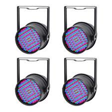 Equinoccio De 4x Negro LED Par 64 RGB DJ Escenario Iluminación par puede Spotlight