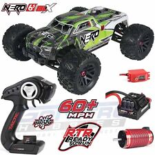 ARRMA 1/8 Nero 6S BLX 4WD Brushless Monster Truck Green RTR w/ TTX300 AR106009