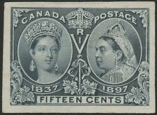 Canada #58P3 15¢ Jubilee Plate Proof On India Paper Xf-Superb Gem Bs6430