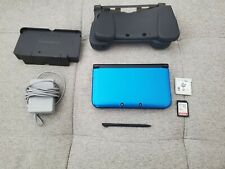 Nintendo 3DS XL Blue Bundle - Game, Charger/Stand, Grips, Stylus & Memory Card