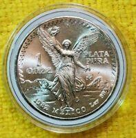 1982 1 oz Silver Libertad 1 Onza Plata Pura BU Coin! From New Roll ! Mexico Mint