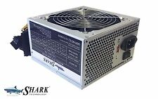 New SHARK 600W ATX12V Gaming PC 120mm Fan Silent Power Supply 3x SATA/PATA PSU