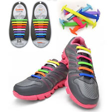 16PCS Multi-color Silicone Elastic Shoelaces No Tie Shoe Laces Fit All Sneakers