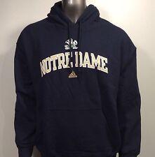 Notre Dame Fighting Irish Adidas Mascot Script Men's L Hoodie Hooded Sweatshirt
