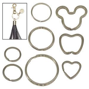 Silver Keyring Blanks Split Rings Flat Key Chain Link Fishing DIY Jewelry making