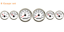 6 Gauge Set Speedometers Tacho Fuel Water Temperature Volts Oil Pressure Red LED