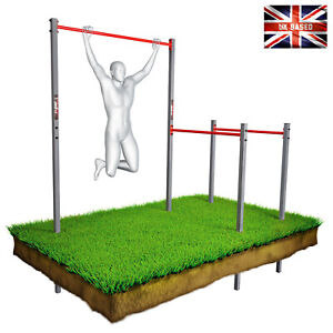Outdoor Gym Calisthenics & CrossFit station - Pull up bar and dipping bars SET