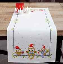 Vervaco - Table Runner - Cross Stitch Kit - Christmas Owls - PN-0150868