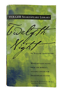 Twelfth Night Shakespeare Folger Library Notes High School Paperback Book