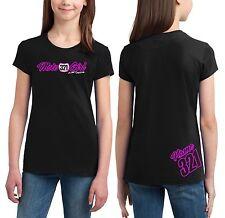 MOTO GIRL BLACK T SHIRT YOUTH JUST RIDE RACE MX MOTOCROSS YZ CR KX KTM CUSTOM