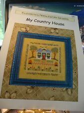"""Counted Cross Stitch Elizabeth's Needlework Designs """"My Country Home""""  new"""