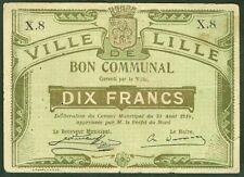NECESSITE 1 FRANC BON COMMUNAL VILLE DE LILLE  ETAT: TTB  lot 814