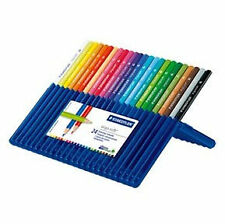 Staedtler : Coloured Pencil Set : Ergosoft set of 24 in blue plastic easel stand