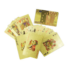 EURO Gold Foil Waterproof Plastic Playing Poker Deck Game Cards USA SUPPLIER