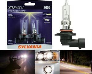 Sylvania Xtra Vision 9005 HB3 65W Two Bulbs Head Light High Beam Replacement OE