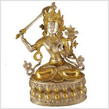 Manjushri Tara Buddha 36 cm 3,8 Kilo Messing Tibet Monju Weiße Tara Grüne Tara