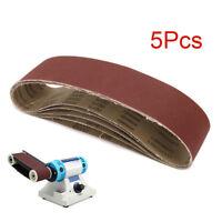 """Pack Of 5Pcs 4"""" x 36"""" Polishing Aluminum Oxide Sanding Belt For Sander 80 Grit"""