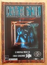 Publicité advert album advertising CONTROL DENIED 1999 CHUCK SCHULDINER DEATH