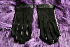 COLE HAAN Black Lambskin Leather & Suede Gloves Size Medium NW0T