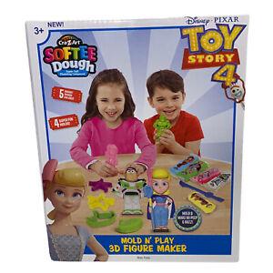 Toy Story 4 Mold N Play 3D Figure Maker Cra-Z-Art Softee Dough Play Doh Disney